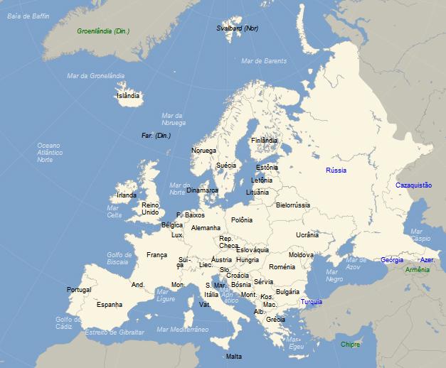 Mapa Da Europa Em Portugues Com Capitais