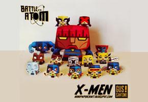 Bonecos de Papel X Men