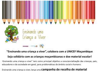 Campanha de Recolha de Material Escolar para UNICEF Moçambique