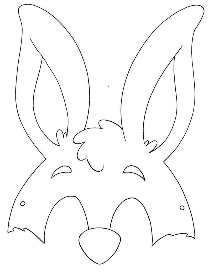 Máscara coelho menino
